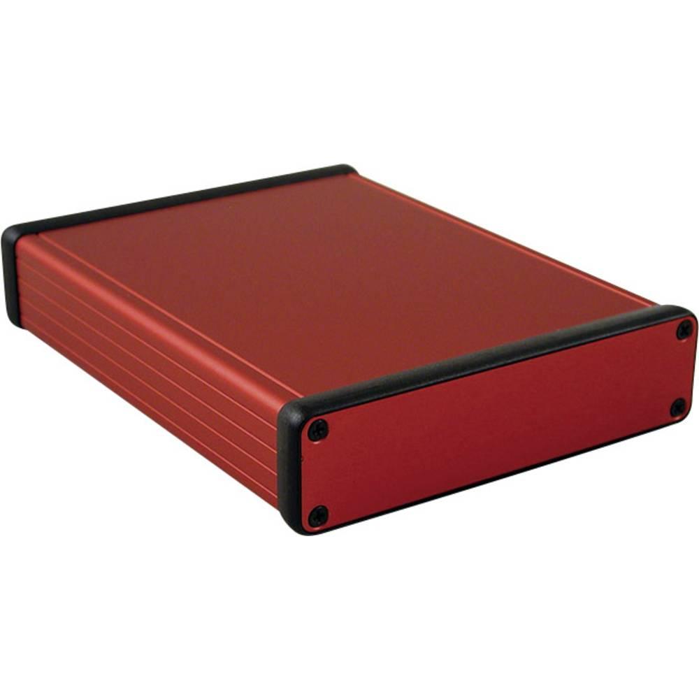 Profilno kućište, aluminij, crvena boja 160 x 125 x 30.5 Hammond Electronics 1455P1601RD 1 kom.