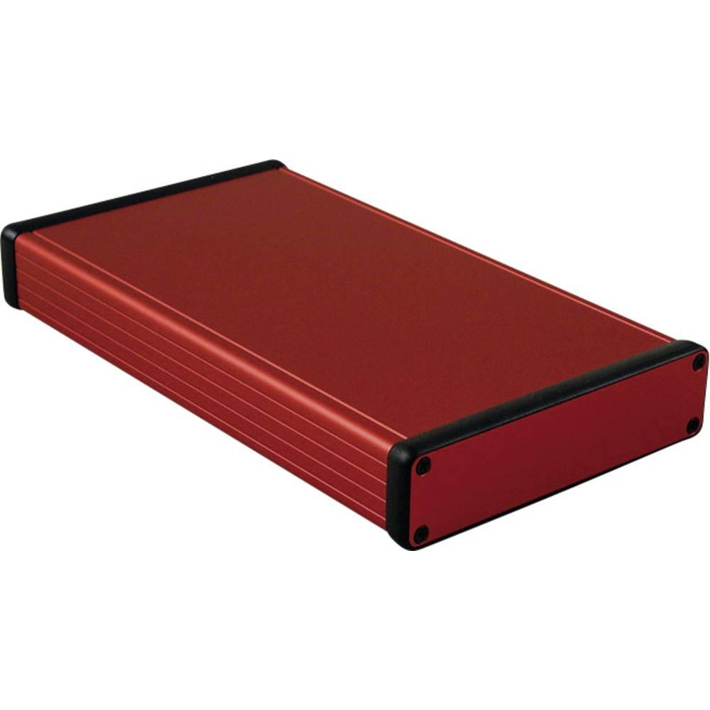 Profilno kućište, aluminij, crvena boja 220 x 125 x 30.5 Hammond Electronics 1455P2201RD 1 kom.
