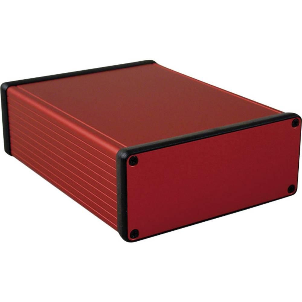Profilno kućište, aluminij, crvena boja 160 x 125 x 51.5 Hammond Electronics 1455Q1601RD 1 kom.