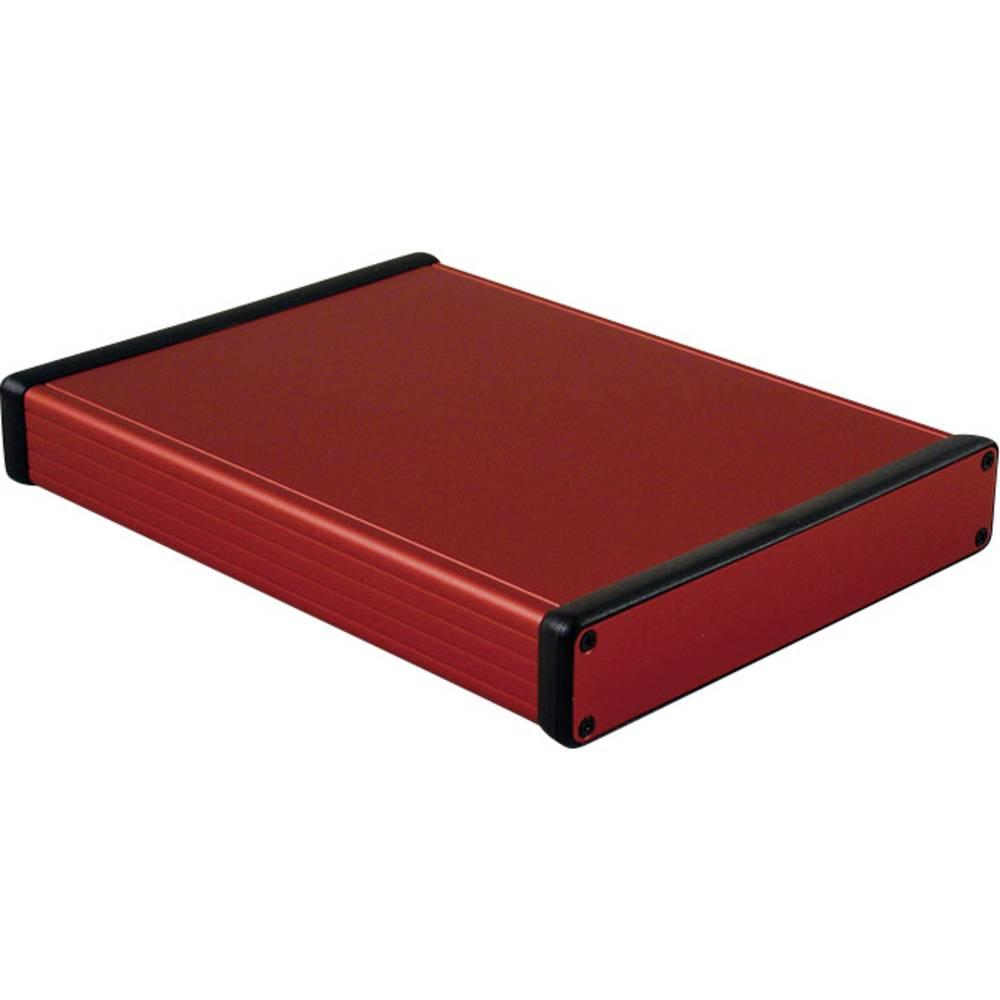 Profilno kućište, aluminij, crvena boja 220 x 165 x 30.5 Hammond Electronics 1455R2201RD 1 kom.