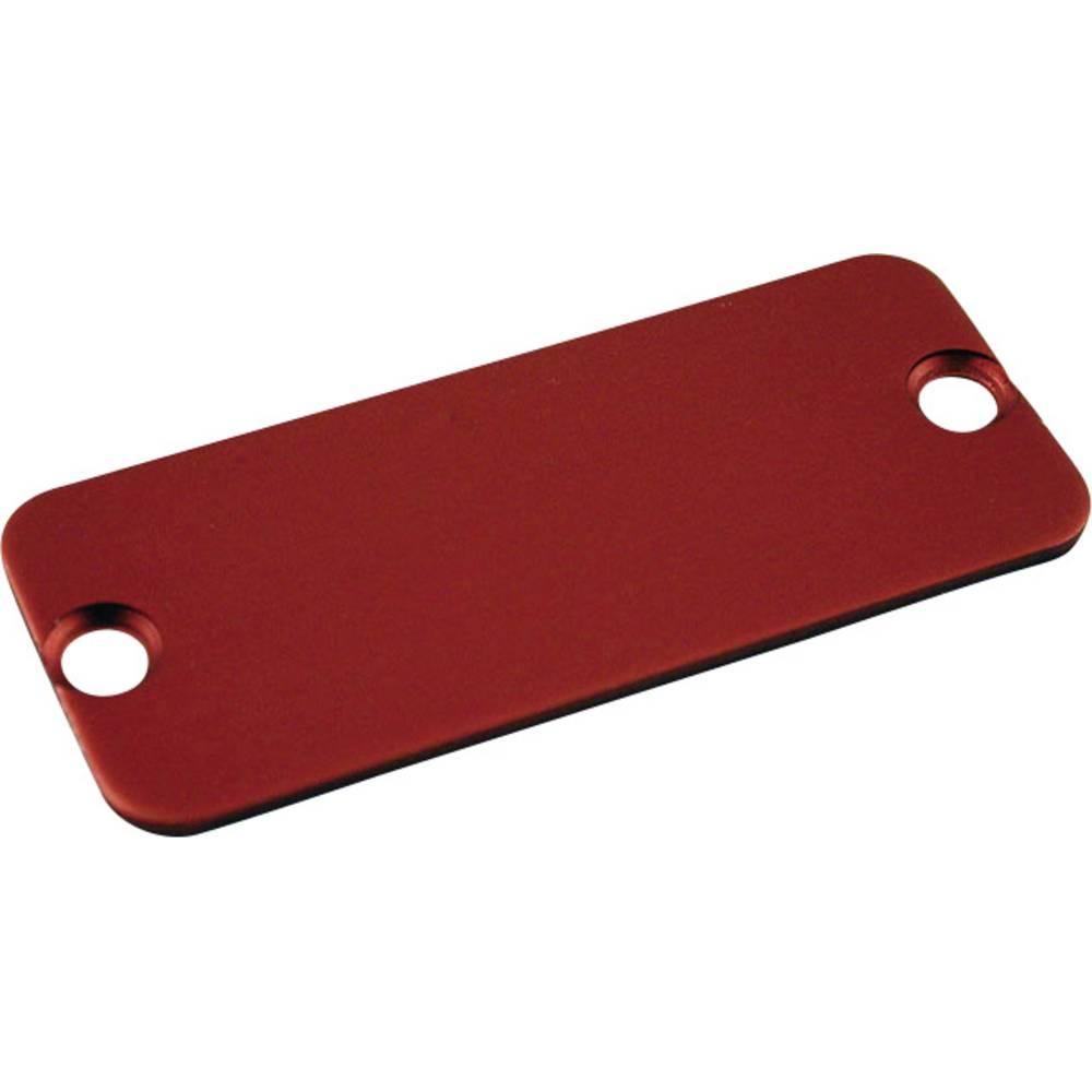 Krajnja ploča serija 1455 Hammond Electronics aluminij (D x Š) 45 mm x 25 mm crvena 10 komada