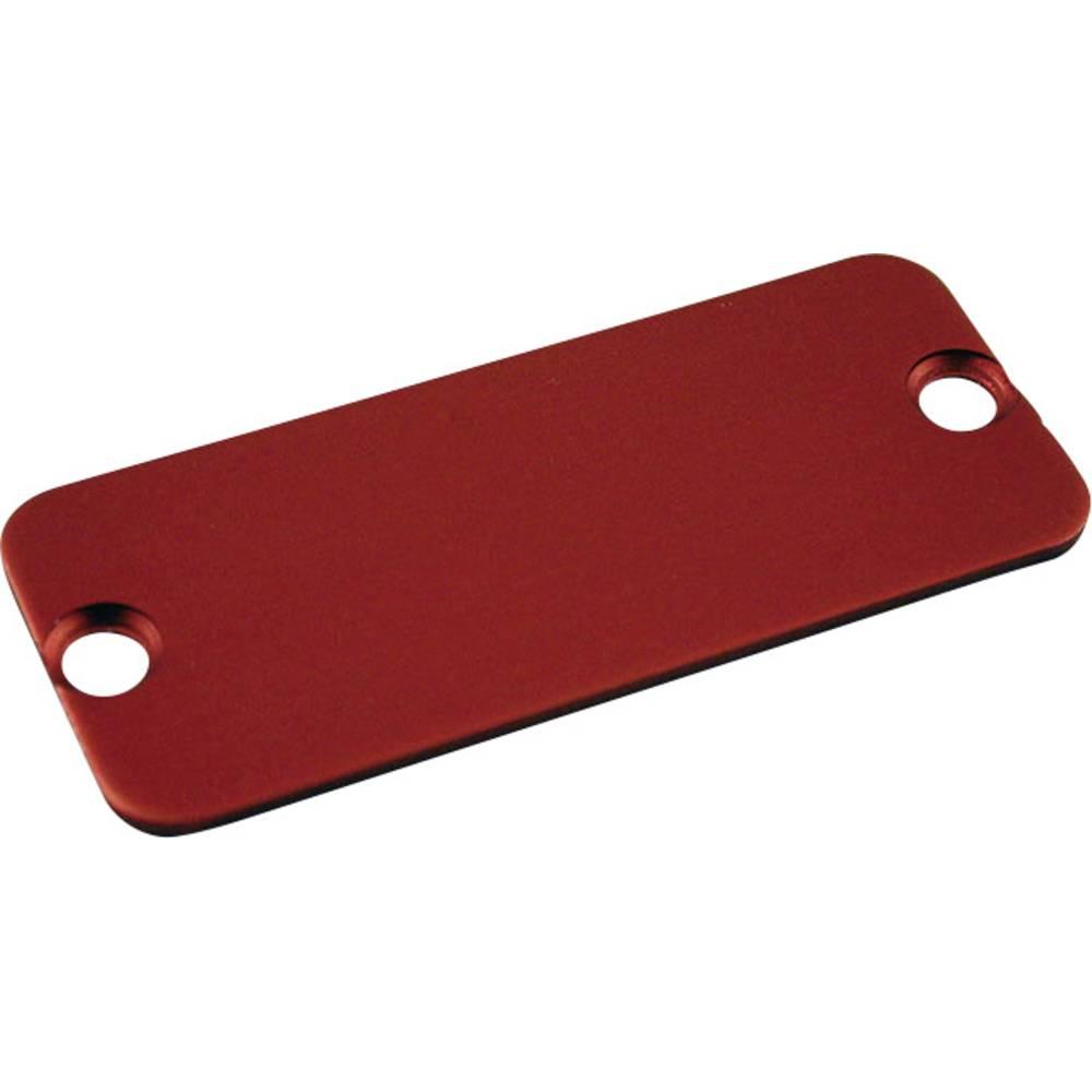 Krajnja ploča serija 1455 Hammond Electronics aluminij (D x Š) 103 mm x 30.5 mm crvena 10 komada
