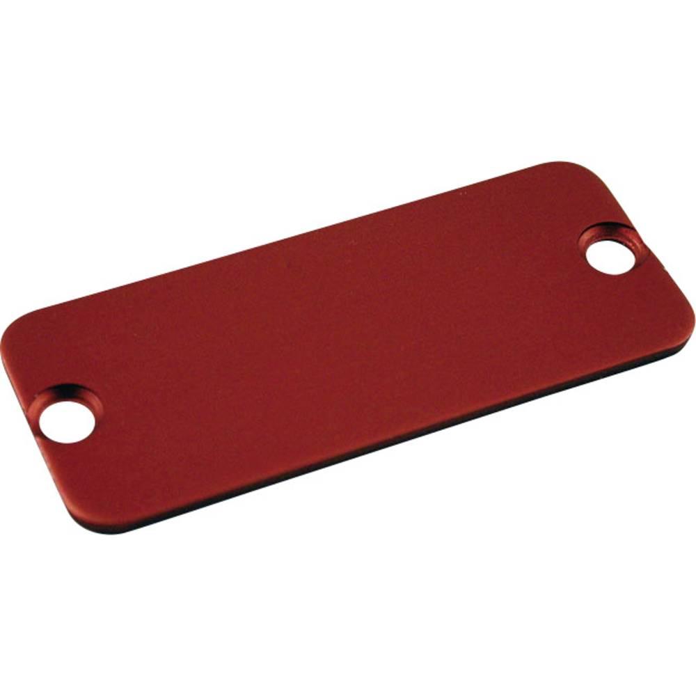 Krajnja ploča serija 1455 Hammond Electronics aluminij (D x Š) 160 mm x 30.5 mm crvena 10 komada