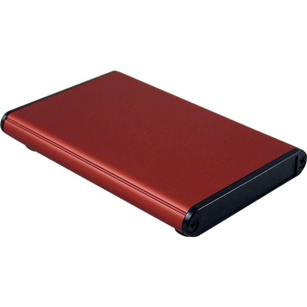 Profilno kućište, aluminij, crvena boja 100 x 70 x 12 Hammond Electronics 1455A1002RD 1 kom.