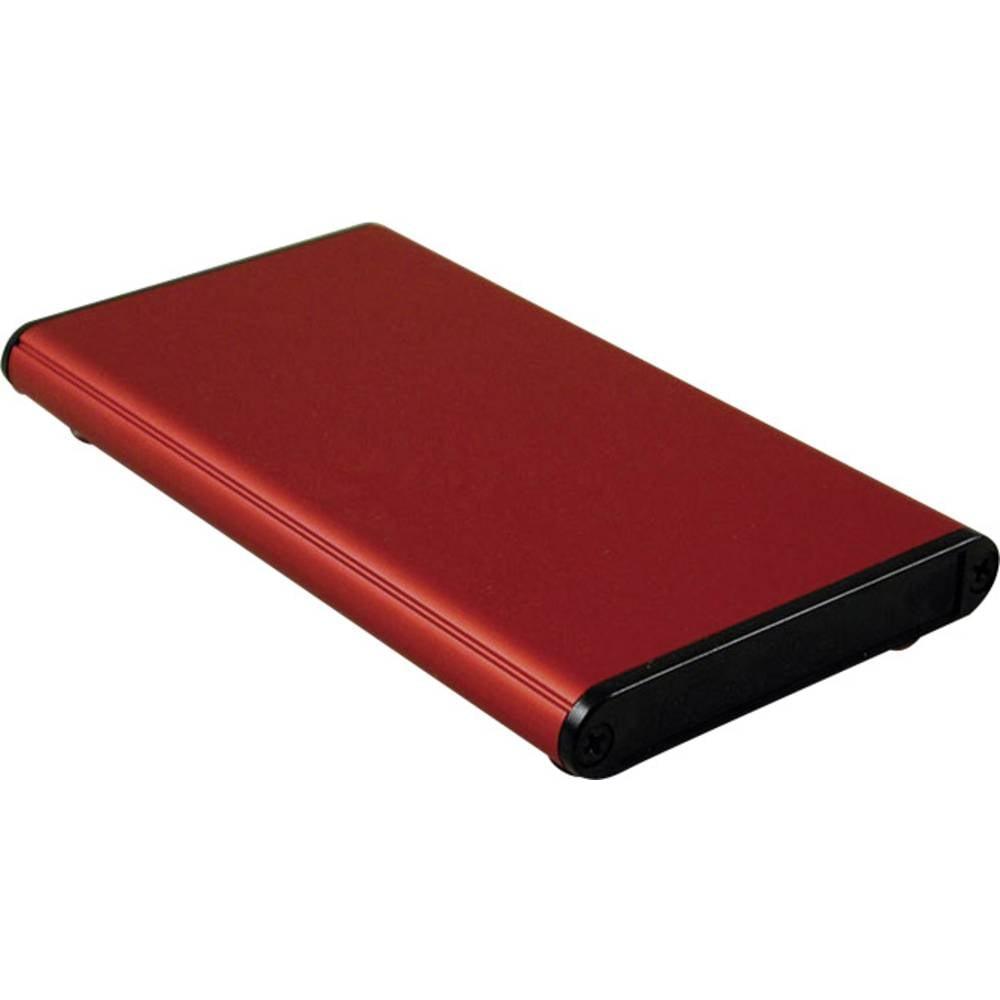 Profilno kućište, aluminij, crvena boja 120 x 70 x 12 Hammond Electronics 1455A1202RD 1 kom.