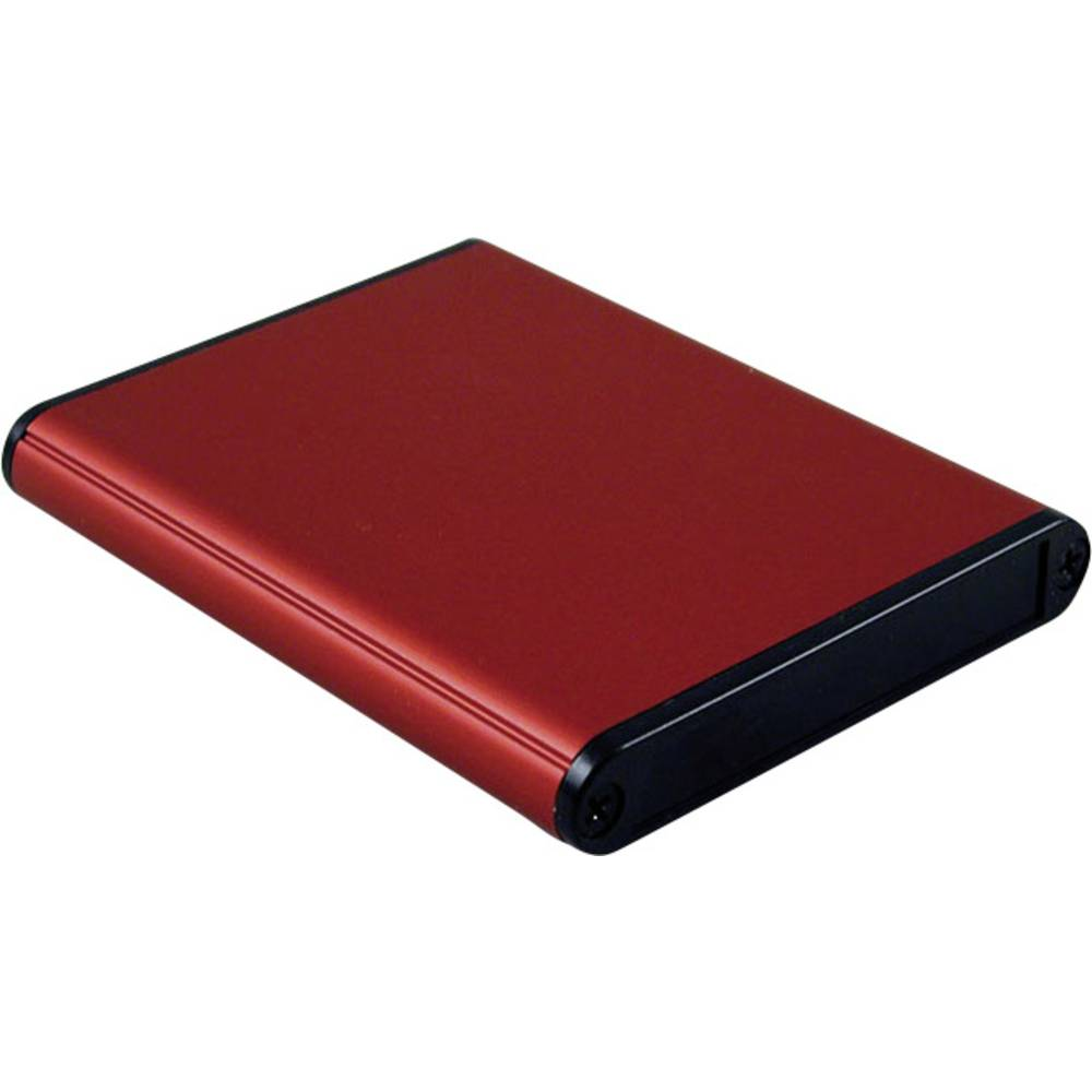 Profilno kućište, aluminij, crvena boja 80 x 70 x 12 Hammond Electronics 1455A802RD 1 kom.