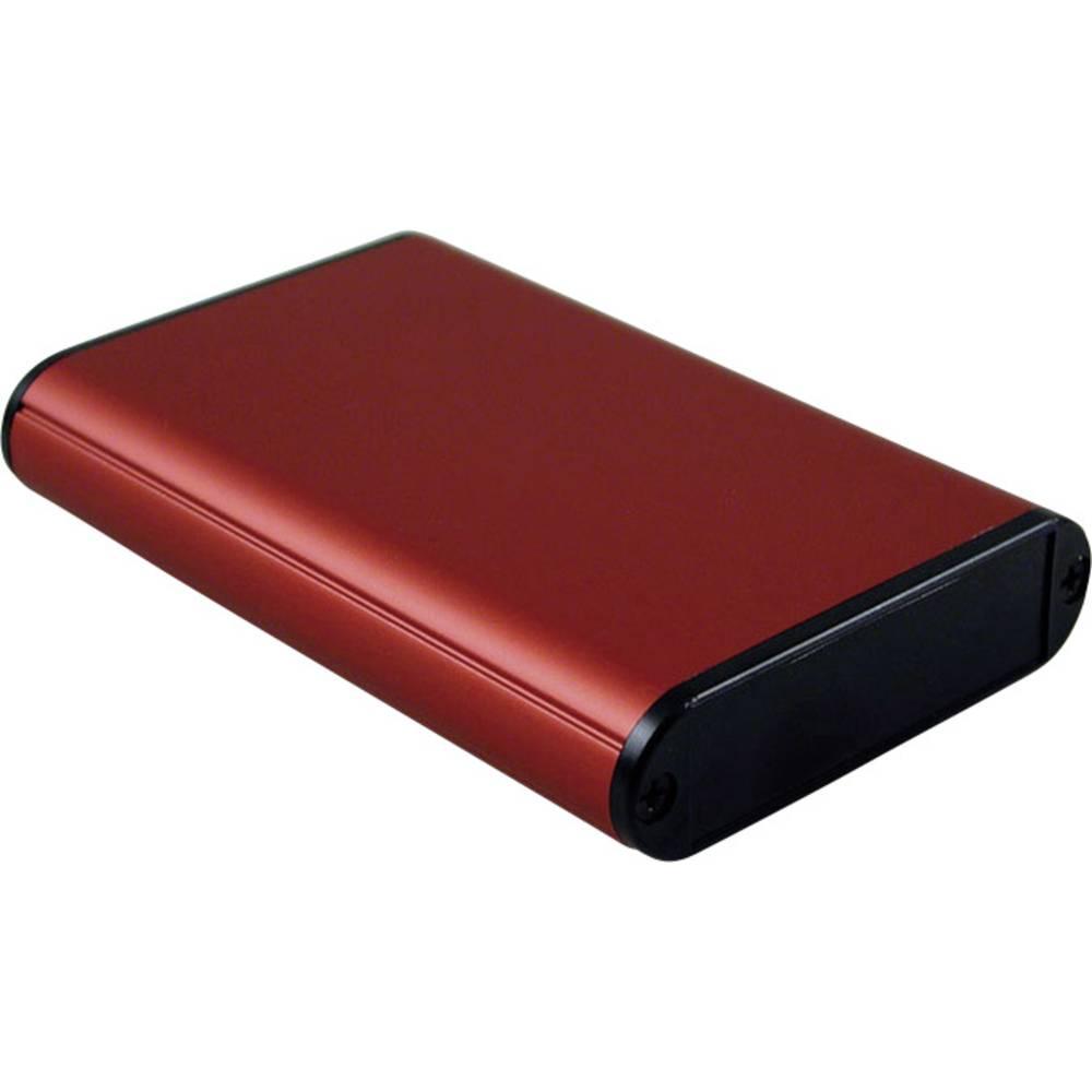 Profilno kućište, aluminij, crvena boja 100 x 71.7 x 19 Hammond Electronics 1455B1002RD 1 kom.
