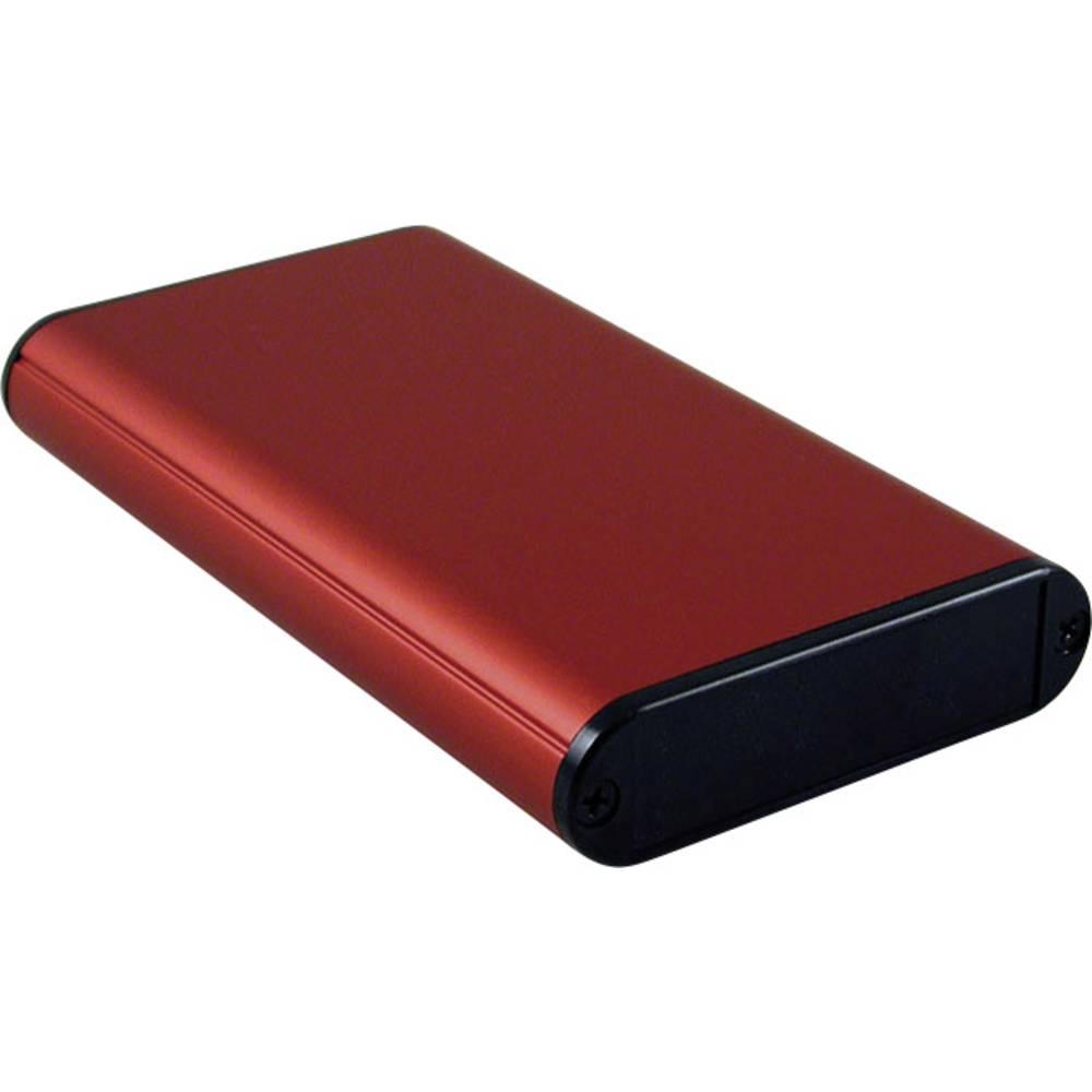 Profilno kućište, aluminij, crvena boja 120 x 71.7 x 19 Hammond Electronics 1455B1202RD 1 kom.