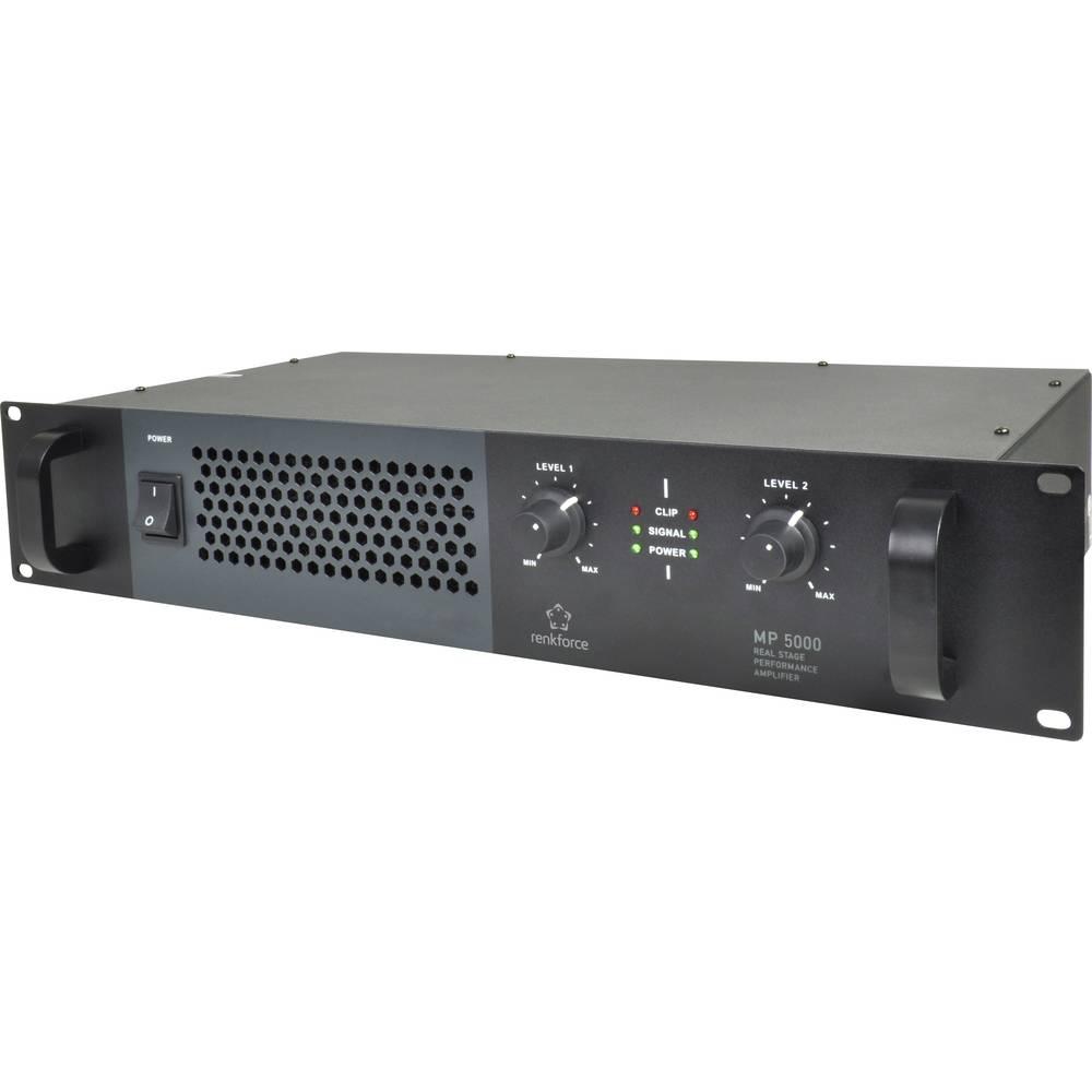 PA ojačevalnik Renkforce MP-5000 RMS moč na kanalu ob 4 Ohm: 170 W