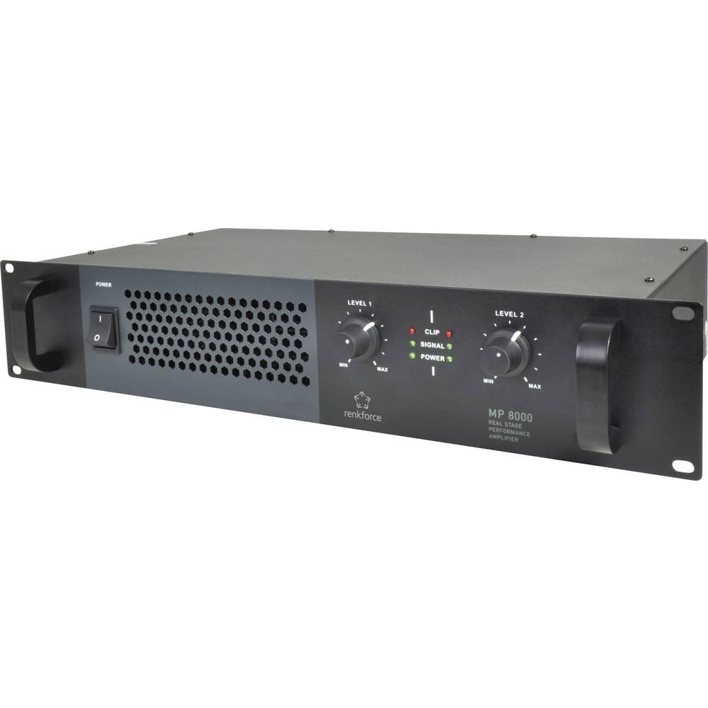 PA ojačevalnik Renkforce MP-8000 RMS moč na kanalu ob 4 Ohm: 320 W