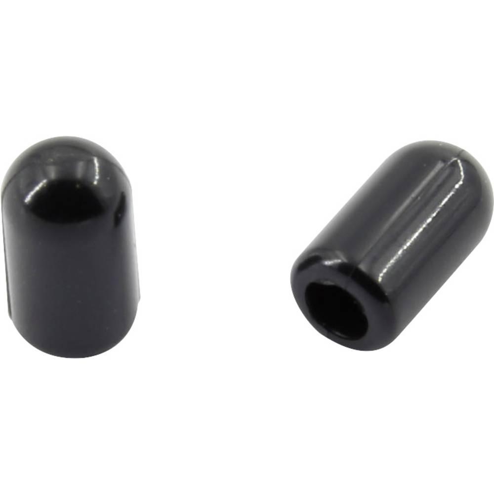 Završna kapica, nije skupljajuća, prije/nakon skupljanja: 4.0 mm/4.0 mm 100 kom. crna