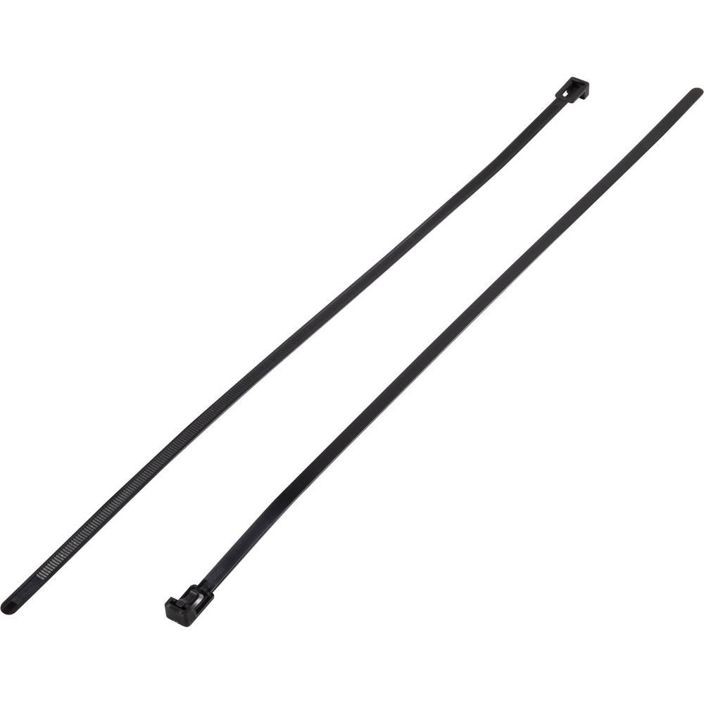 Sortiment vezic za kabele 500 mm crne boje, za višekratnu upotrebu KSS HV-500BK 100 kom