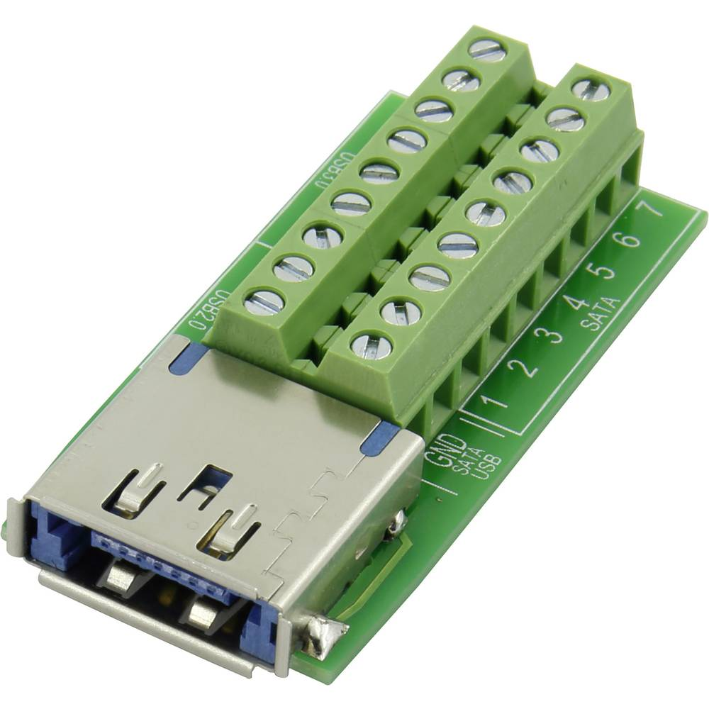 eSATAp Vgradna vtičnica, vgradna, vertikalna Multiport USB 3.0 + eSATAp vtičnica Conrad vsebuje: 1 kos