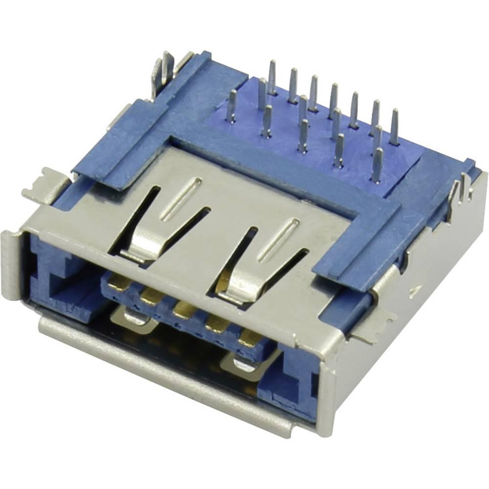 Večvhodna vgradna vtičnica eSATAp + USB 3.0 vtičnica, vgradna horizontalna eSATAp + USB 3.0 Conrad vsebuje: 1 kos