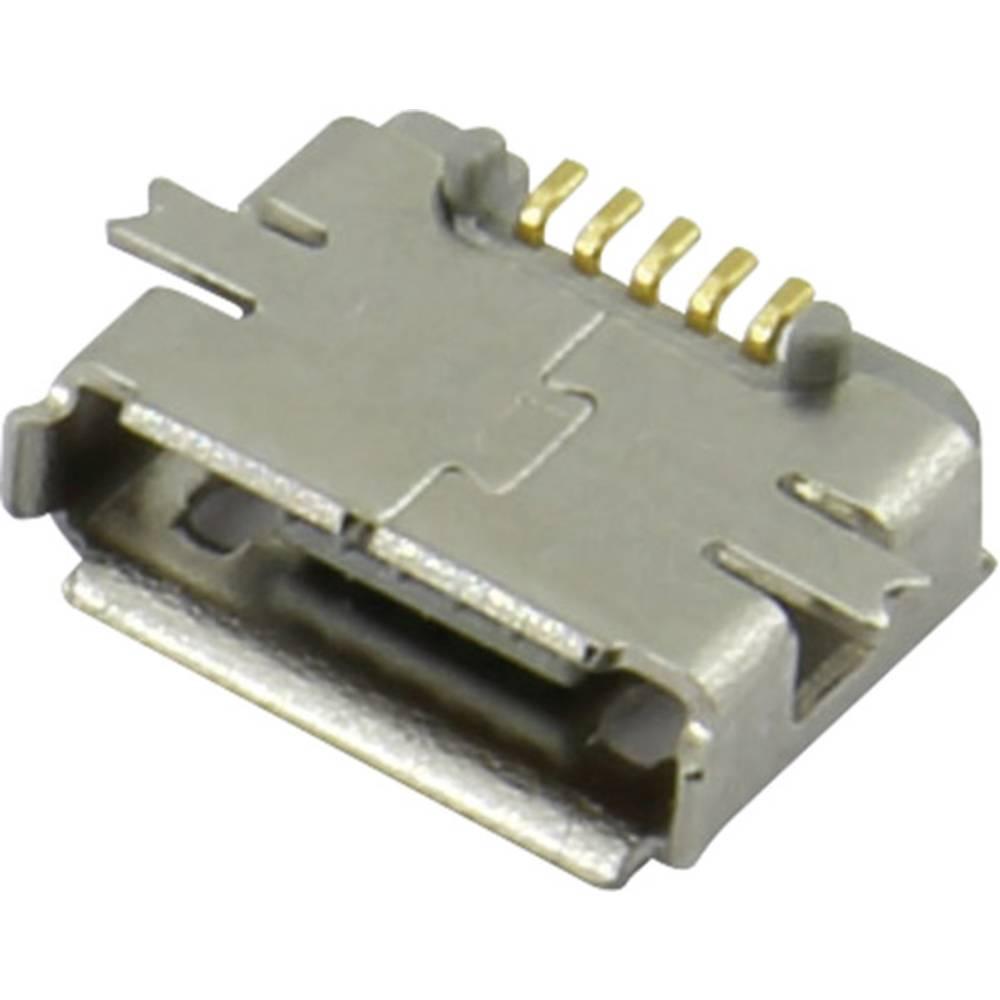 Micro USB vtičnica, vgradna, horizontalna 207A-ABA0-R Micro USB vgradna vtičnica , tipa AB Attend vsebuje: 1 kos