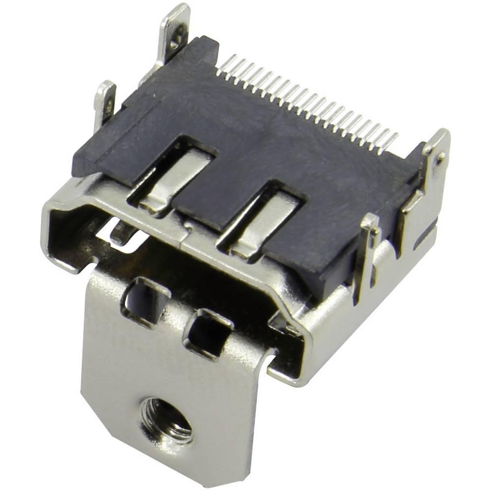 HDMI-vtični konektor za vtičnico, vgraden horizontalen srebrne barve Attend 206B-SEAN-R03 1 kos