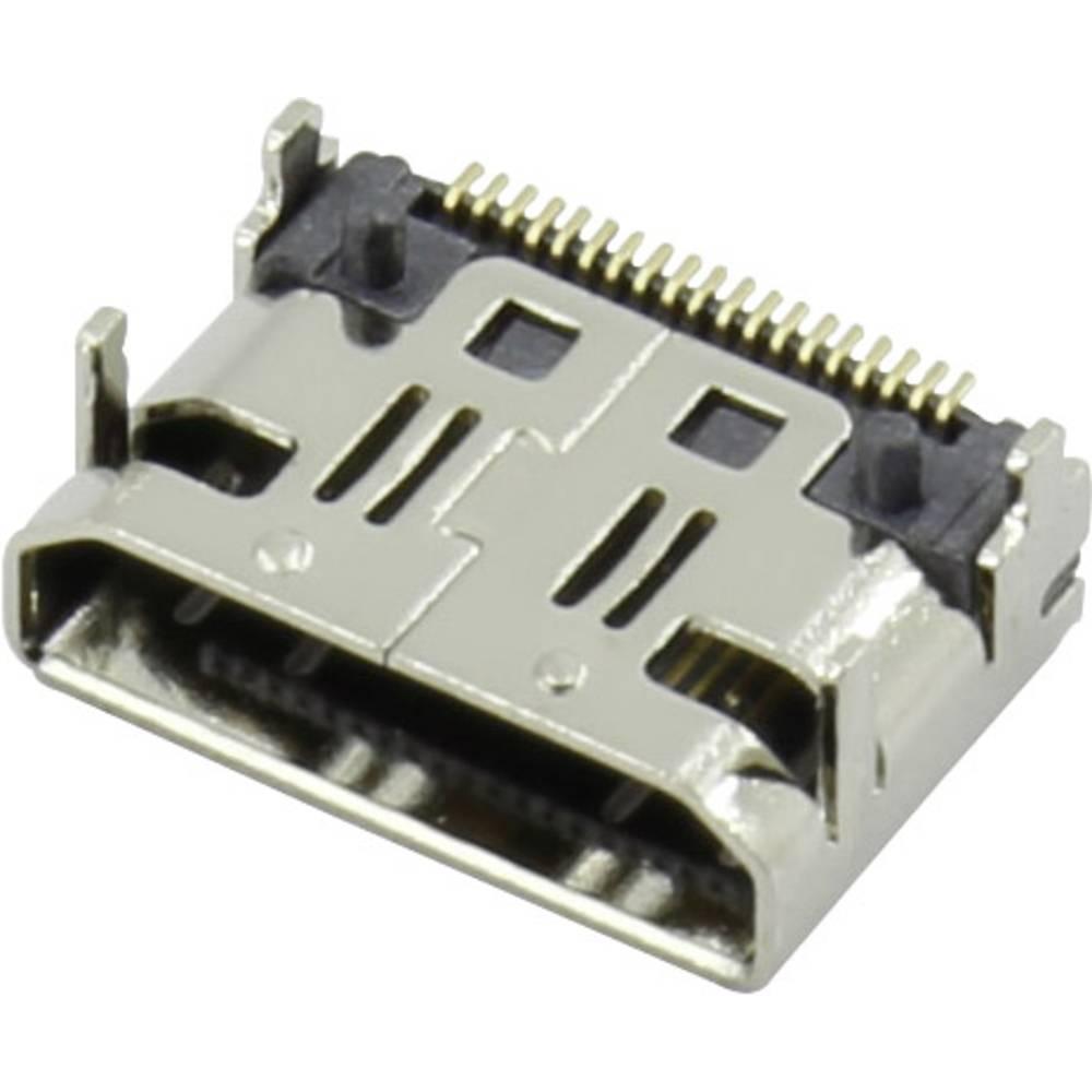 HDMI-vtični konektor za vtičnico, vgraden horizontalen srebrne barve Attend 206G-SXAN-R01 1 kos
