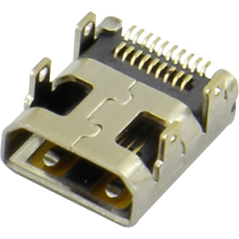 HDMI-vtični konektor za vtičnico, vgraden horizontalen srebrne barve Attend 206H-SDAN-R01 1 kos
