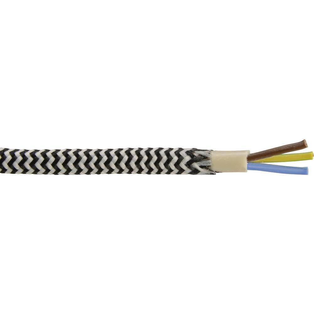 Priključni vodnik 3 G 0.75 mm črne barve, bele barve metrsko blago