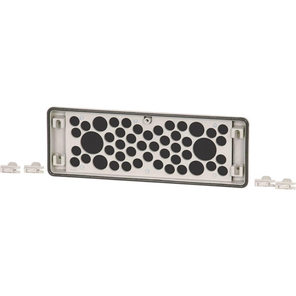 Flangeplade Eaton FL4-D Med kabelindføring (L x B x H) 23 x 329 x 116 mm Grå 1 stk