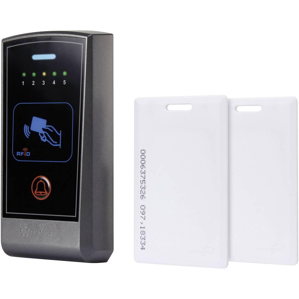 Kartični (transponderski) dostopni sistem, nadometni Renkforce 12 V/DC IP55 za 500 kartic