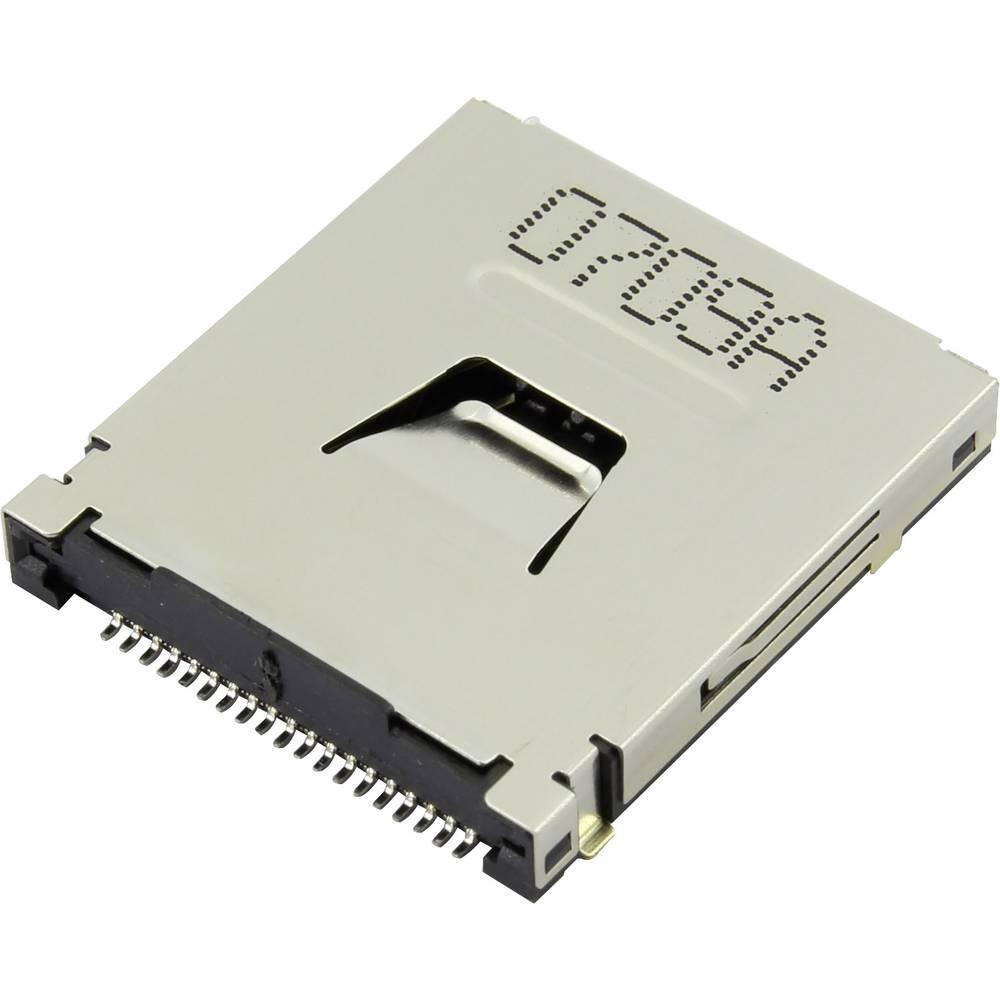 SD, MMC, MMCplus, xD, Memory Stick Kort-sokkel Attend 107R-CD00-R 1 stk