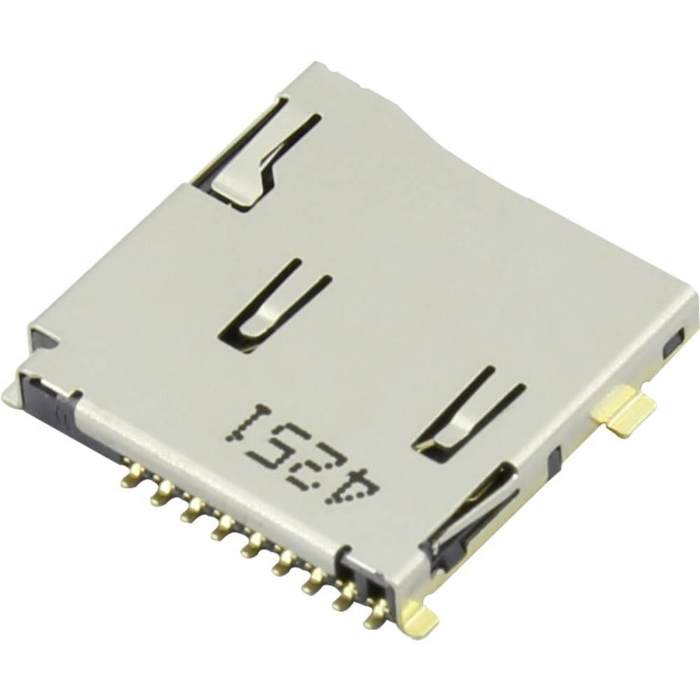 Podnožje za mikro SD kartico, potisno, potisno Attend 112J-TDAR-R01 1 kos