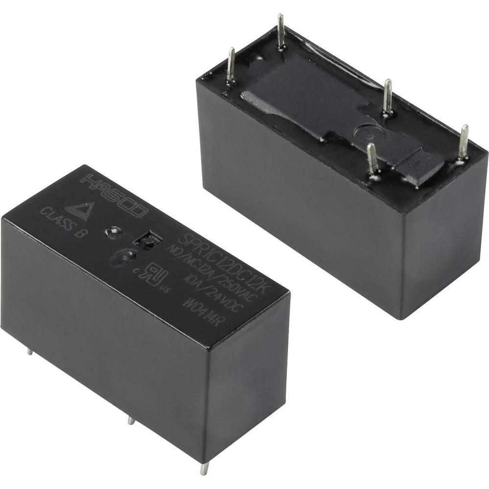 Rele za tiskana vezja 12 V/DC 16 A 1 x preklopni Hasco Relays and Electronics SPR1C12DC12K 1 kos