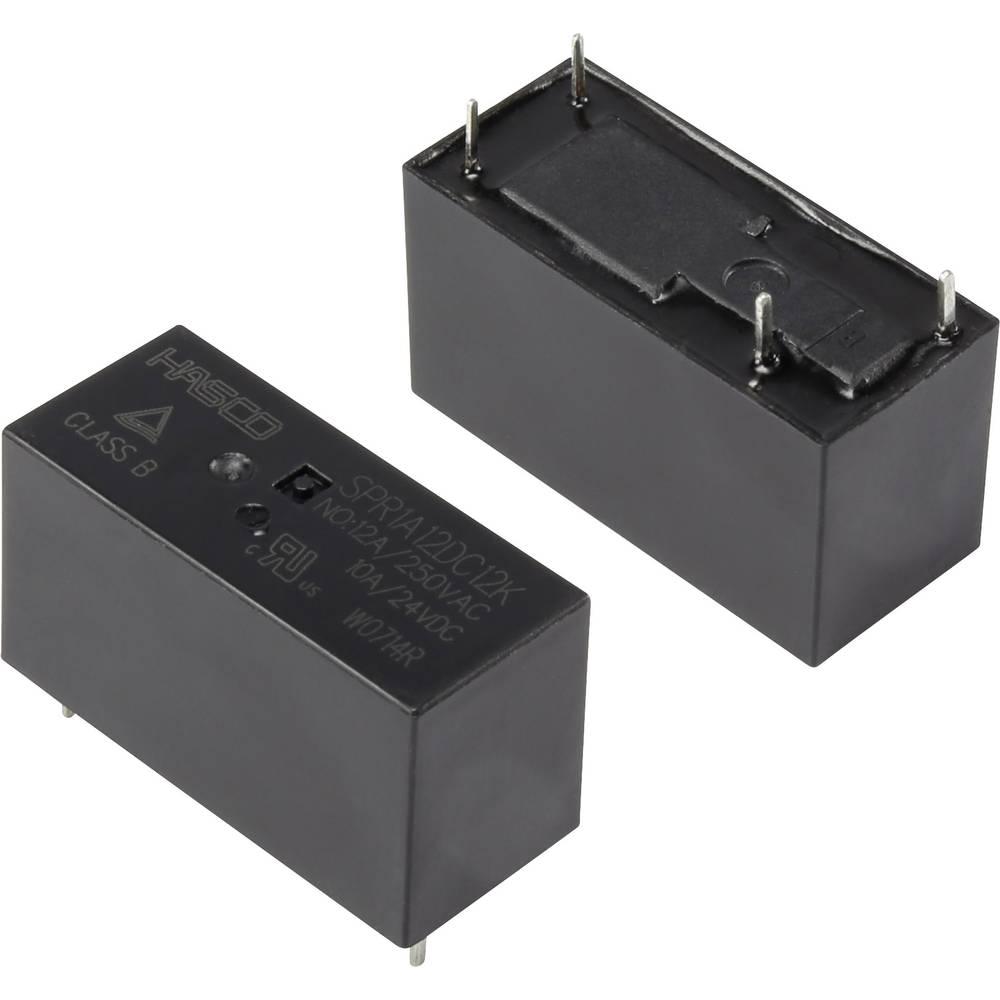 Rele za tiskana vezja 12 V/DC 16 A zapiralni Hasco Relays and Electronics SPR1A12DC12K 1 kos