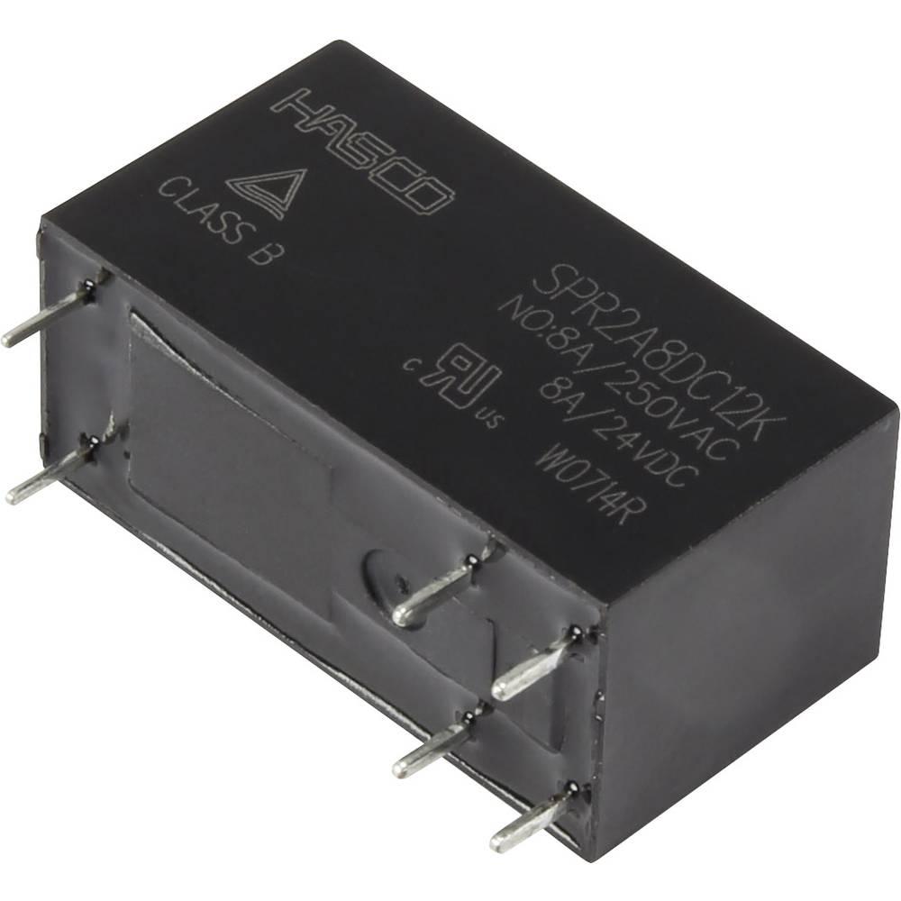 Rele za tiskana vezja 12 V/DC 8 A s tremi zaklepi Hasco Relays and Electronics SPR2A8DC12K 1 kos
