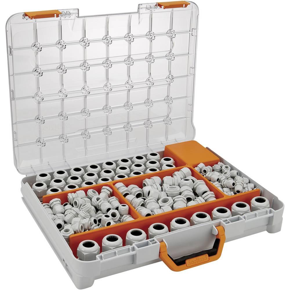 Kabelske uvodnice - sortiment poliamid, svetlo sive barve (RAL 7035) LappKabel SKINTOP ST-M Sortimo T-BOXX 348 kosov