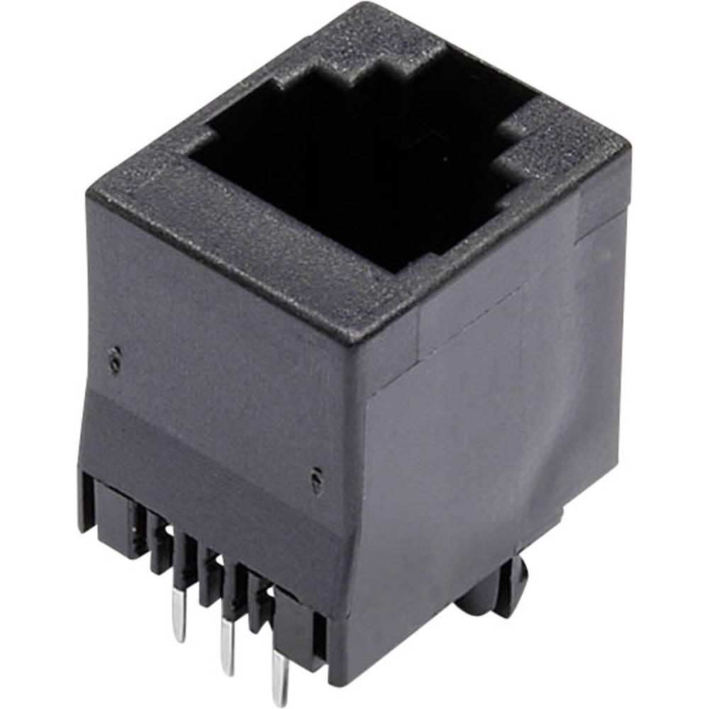 Modularna-vgradna vtičnica, vgradna, vertikalna, polov: 6 MJTN66A črne barve econ connect MJTN66A 1 kos