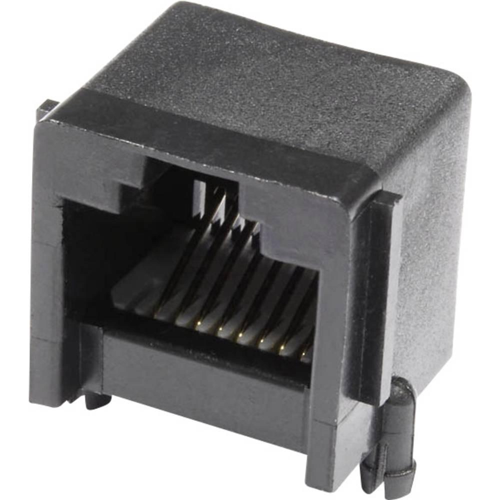 Modularna-vgradna vtičnica, vgradna, horizontalna, polov: 8 MJUSE88GAB črne barve econ connect MJUSE88GAB 1 kos