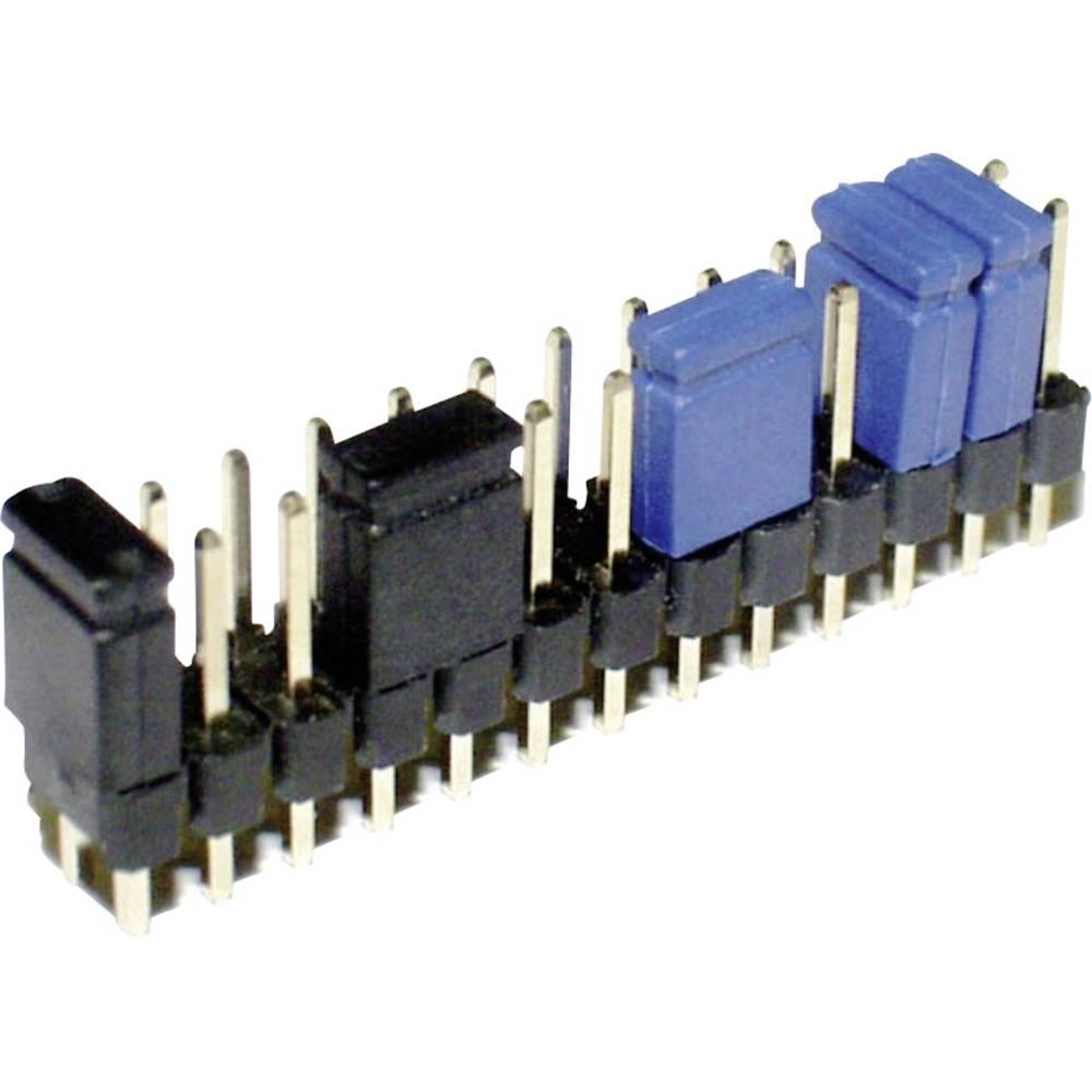 Kortslutningsbro Rastermål: 2.54 mm Poltal hver række:2 econ connect SHSWG Indhold: 1 stk