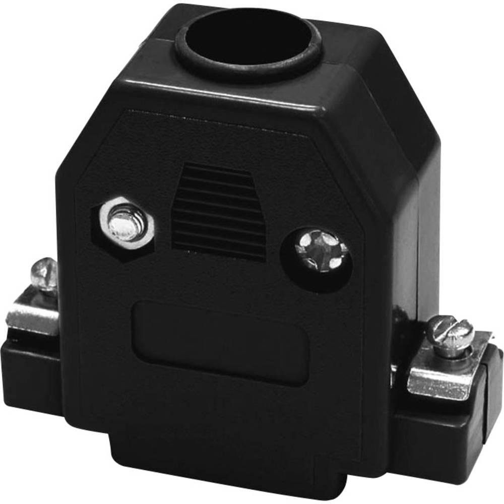 D-SUB ohišje, število polov: 15 iz umetne mase 180 ° črne barve econ connect PH15SW 1 kos