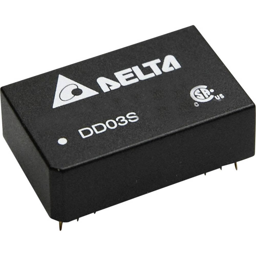 DC/DC pretvornik za tiskano vezje Delta Electronics DD03D0512A 12 V/DC, -12 V/DC 125 mA 3 W št. izhodov: 2 x