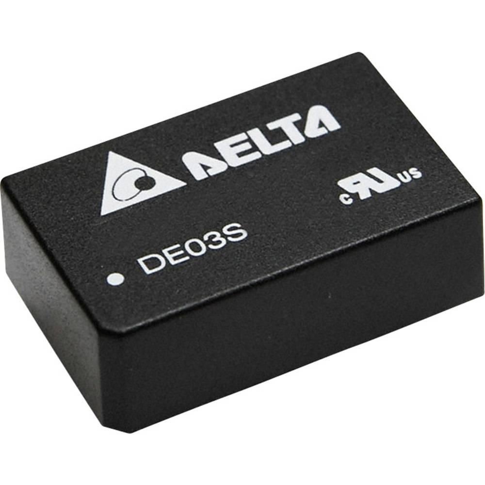 DC/DC pretvornik za tiskano vezje Delta Electronics DE03D1215A 15 V/DC, -15 V/DC 100 mA 3 W št. izhodov: 2 x
