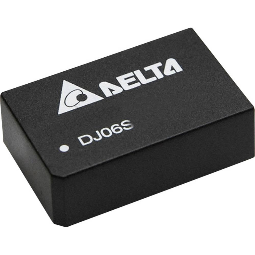 DC/DC pretvornik za tiskano vezje Delta Electronics DJ06D2412A 12 V/DC, -12 V/DC 250 mA 6 W št. izhodov: 2 x