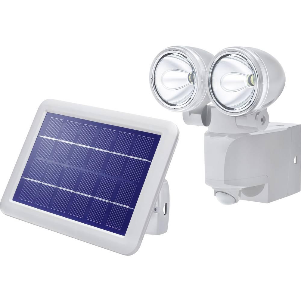 Solarna stenska sijalka s senzorjem premikanja LED hladno-bela Esotec Power Light siva
