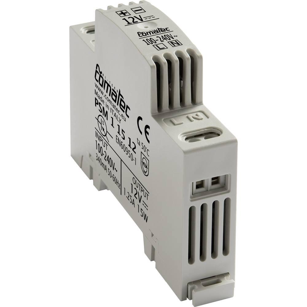 Napajalnik za namestitev na vodila PSM 12 V/DC 15 W Comatec, vsebina: 1 kos