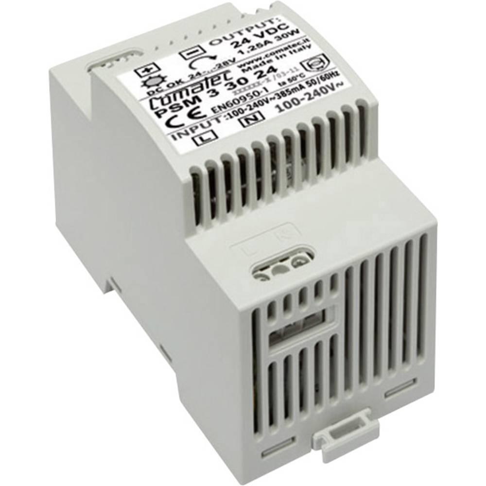 Napajalnik za namestitev na vodila PSM 24 V/DC 30 W Comatec, vsebina: 1 kos