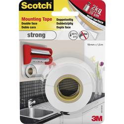 Montažni trak Scotch® Strong (D x Š) 1.5 m x 19 mm bel 40011915 3M vsebina: 1 rolo