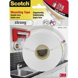 Montažni trak Scotch® Strong (D x Š) 5 m x 19 mm Weiß 40011950 3M vsebina: 1 rola