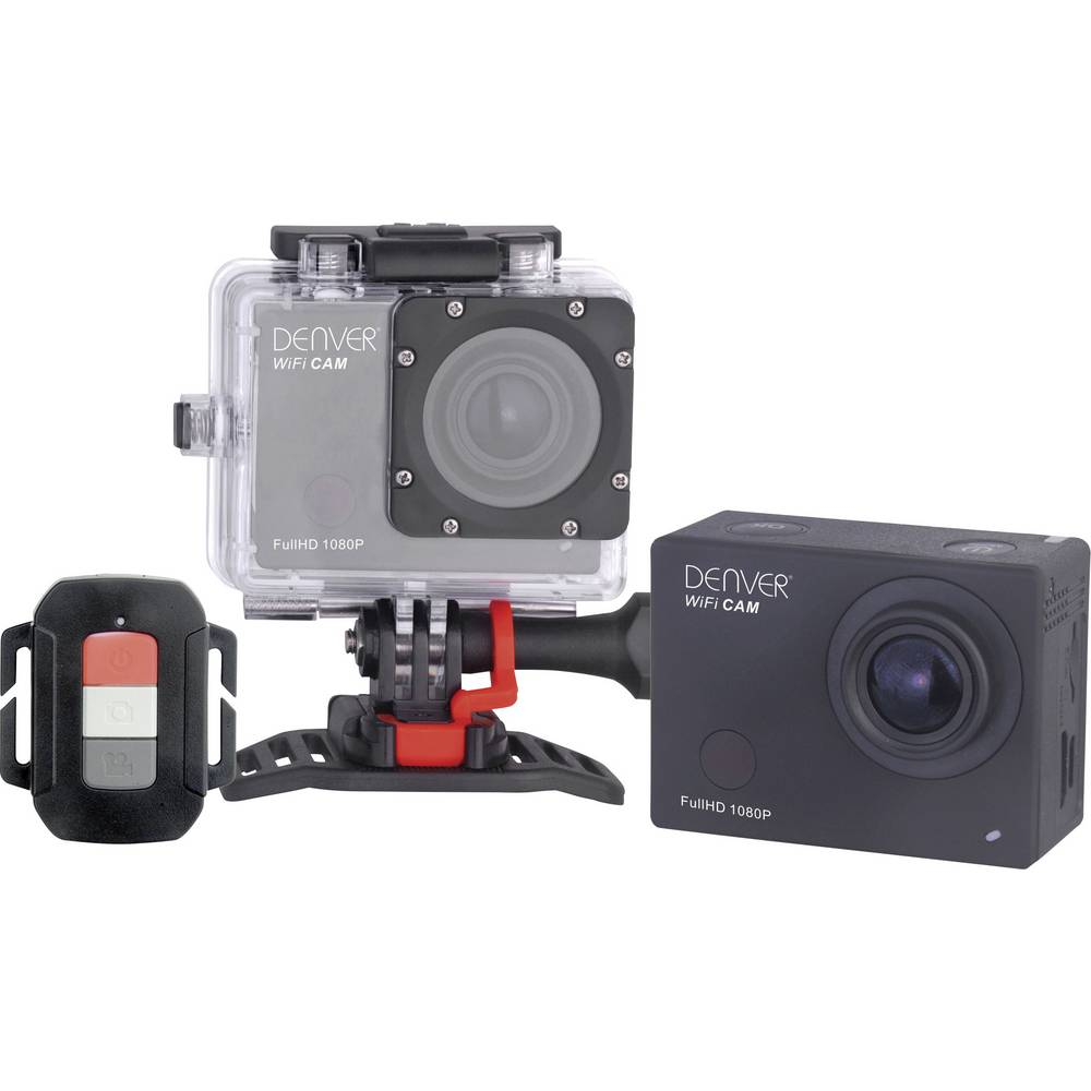Akcijska kamera Denver ACT ACT 8030W 8030W Full HD, notranji pomnilnik, Wi-Fi, odporna na udarce, odporna na prah, vodoodporna
