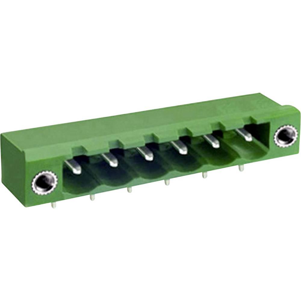 Osnovno pinsko ohišje, horizontalno z vijačno pritrditvijo mere: 5.08 mm število polov: 12 zelene barve DECA ME050-50812 vsebuje