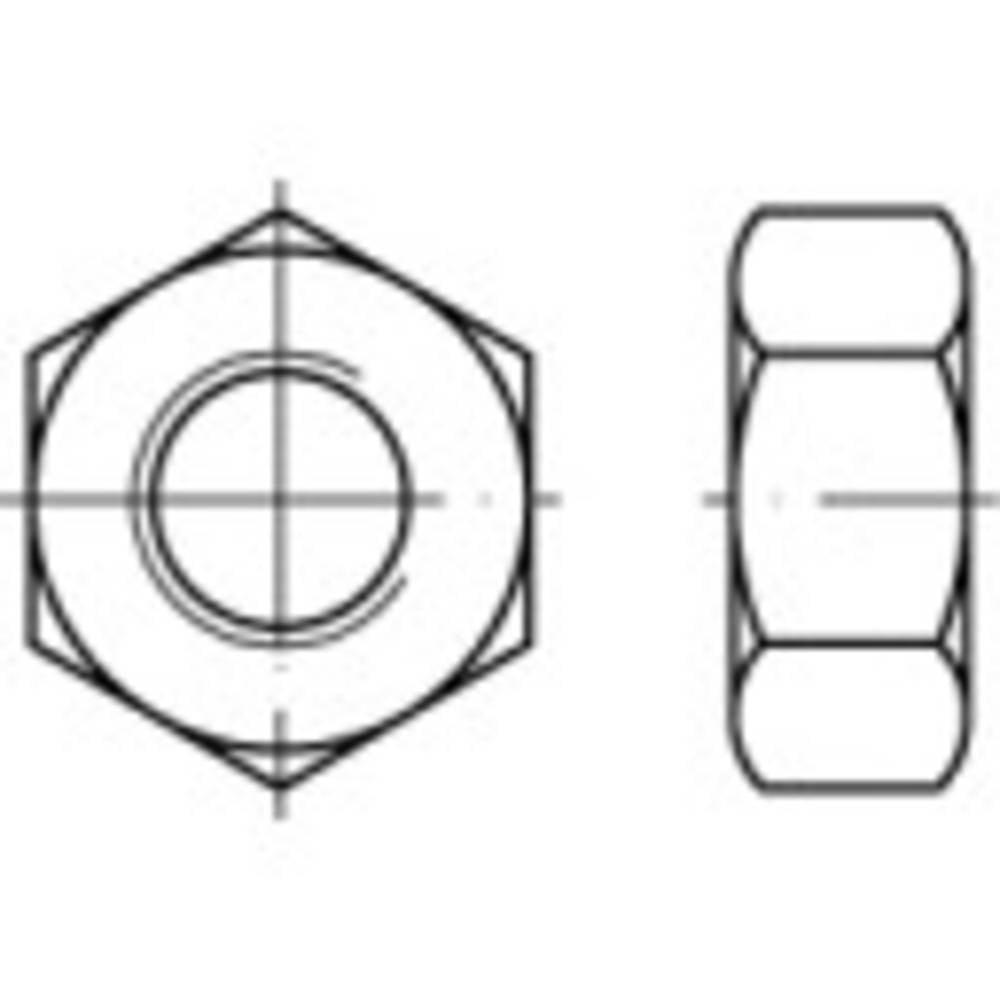 Sexkantsmutter M14 DIN 934 Stål 100 st TOOLCRAFT 131593
