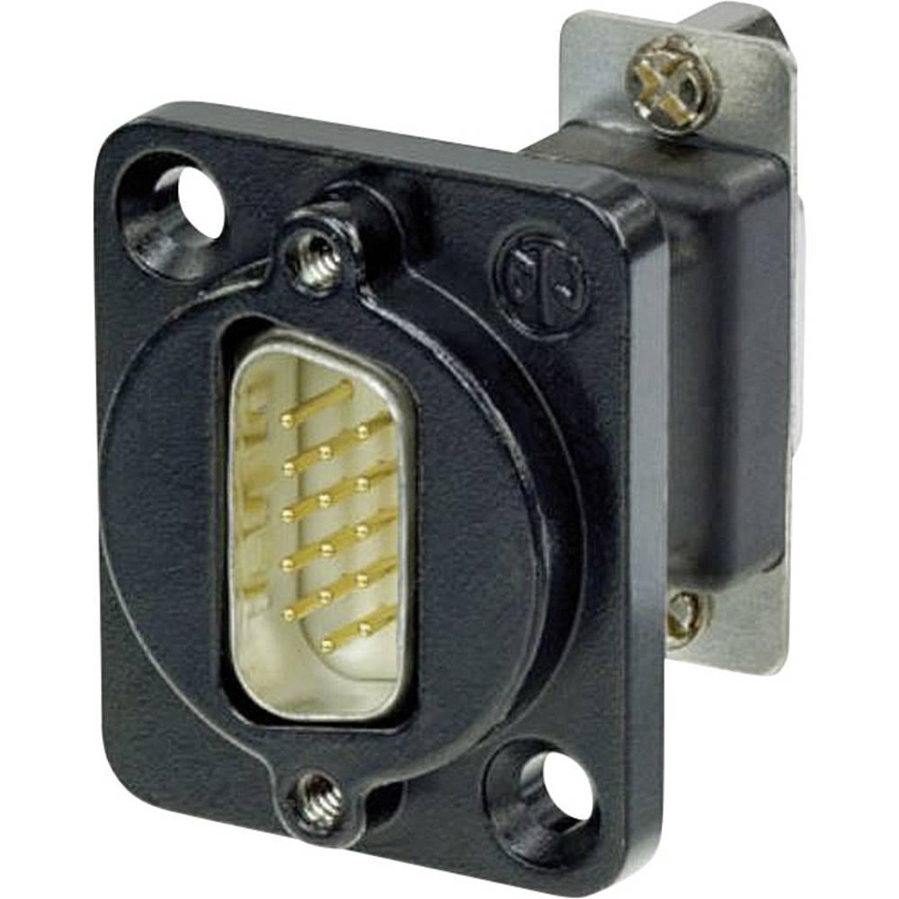 D-SUB adapter D-SUB-vtič 15-polov - D-SUB-vtičnica 15-polov Neutrik NADB15MF-B 1 kos