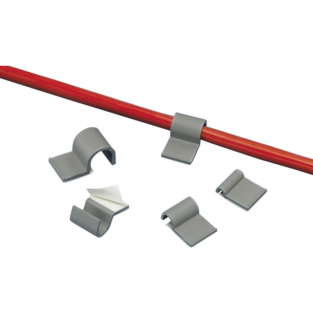 Sponka za kable samolepljiva sive barve Panduit A1C12-A-C8 1 kos