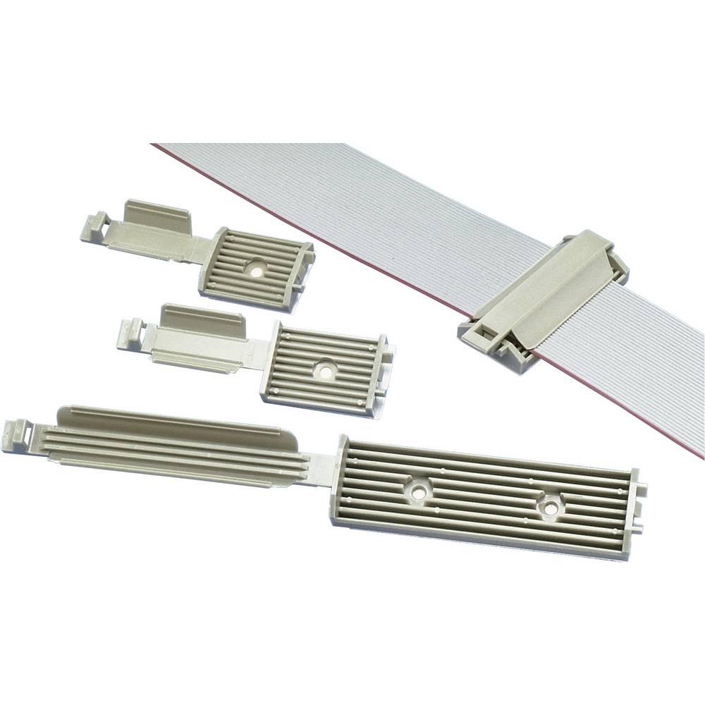 Pritrdilno podnožje za ploščati kabel sive barve Panduit FCM2-A-C14 1 kos