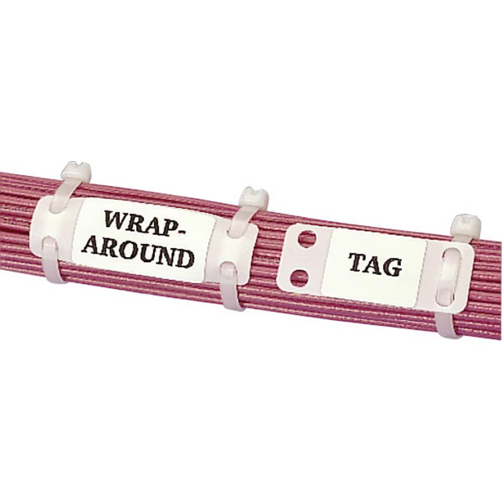 Označevalnik za kable, montaža: na kabelske vezice, površina: 26.20 x 19 mm, primerne za posamezne žice, univerzalna uporaba črn